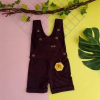 baju kodok anak 1 2 3 4 5 tahun overall anak pendek merk mybee coktua
