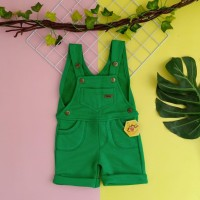 baju kodok anak 1 2 3 4 5 tahun overall anak pendek merk mybee hijau
