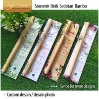 Souvenir Sedotan Bambu dan Sikat