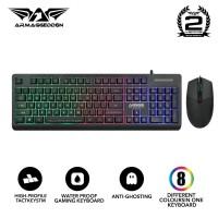 Armaggeddon AK666 Membrane Gaming Keyboard Combo Asic Pro 8 Mouse