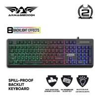 Armaggeddon AK666 Spill Proof Backlit Membrane Gaming Keyboard