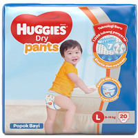 BUY 2 GET 1 FREE Huggies Dry Pants L20 / XL18