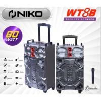 Speaker Niko Meeting Trolley Bluetooth WT8B khusus (gosend/grab)