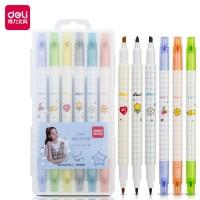 Deli Highlighter Pen Nyaman Dipakai 6PCS/Kotak,Warna Lembut S606