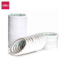Deli double tape kertas tissue ukuran 9-24mmx10Yx80um, 12-32 roll/pack