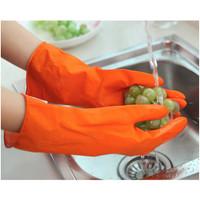 Sarung tangan CUCI karet XL latex panjang bersih bersih anti air