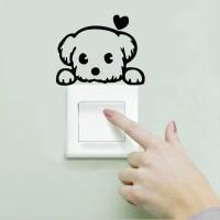 Sticker Stiker Saklar Lampu Wallpaper Dinding Love Dog