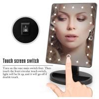 Cermin Kaca Makeup Mirror 22 LED Light Lampu Tombol On Off Sentuh