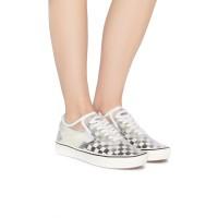 Sepatu Wanita | Vans ComfyCush Slip-Skool Checkerboard Black/White