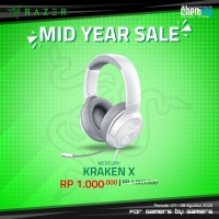 Razer Kraken X Mercury Multi Platform 7.1 Surround Gaming Headset