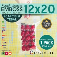 Plastik Vacum Emboss 12x20 / Vacuum Bag Embossed 100 pcs