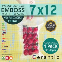 Plastik Vacum Emboss 7x12 / Vacuum Bag Embossed isi 100