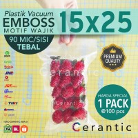 Plastik Vacum Emboss 15x25 / Vacuum Bag Embossed 100 pcs