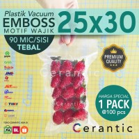 Plastik Vacum Emboss 25x30 / Vacuum Bag Embossed 100 pcs