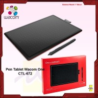 One by Wacom CTL672 Digital Pen Tablet CTL-672 Medium