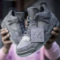 Sepatu Nike Air Jordan 4 KAWS Retro Cool Grey Premium Original Sneaker