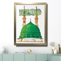 Lukisan Masjid Nabawi 1 hiasan dinding islam - pajangan dinding islami