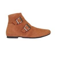 Lvnatica Sepatu Ankle Boots Wanita Brunella Brown Kasual Outdoor