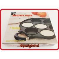 cetakan kue 7 lubang datar snack maker pan kue lumpur / martabak mini