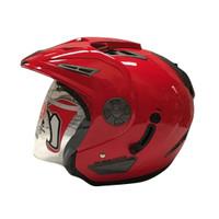 Helm half Face JGR Solid Red L