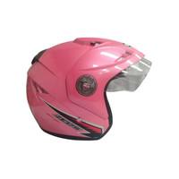 Helm Half Face GP Zeus Solid Pink