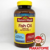 Nature Made Fish Oil 1200 mg 200 Softgel 360 mg Omega 3 EPA DHA minyak