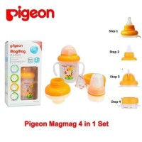 PIGEON TRAINING CUP MAG MAG ALL IN ONE SET// 4 STEP PIGEON BOTTLE