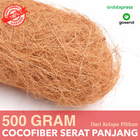 Coco Fiber 500gr - Cocofiber Serat Sabut Kelapa - Media Tanam Anggrek - Serat Panjang