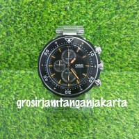jam oris divers rubber super premium hi clas cronograph free gantungan