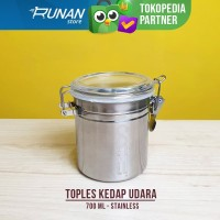 Toples Kopi Stainless 700ml Canister Toples Bumbu Dapur Conalli Large