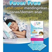 Pure Kids Fever Free Cooling Patch Isi 4 Pcs