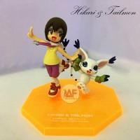 Action figure Digimon Hikari dan Tailmon G.E.M Megahouse recast pvc