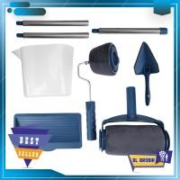 Kuas Cat Tembok Paint Runner Pro Roller warna biru satu set lengkap