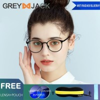 Grey Jack Kacamata anti radiasi blueray wanita TR90 lentur ringan 2322