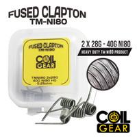 Coil Gear Fused Clapton TMNi80 4biji 2Pasang