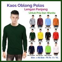 Promo Murah Kaos Polos Lengan Panjang Pria dan Wanita - Biru Muda, all size