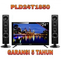 POLYTRON PLD 24T1850 LED TV 24 inch + SPK TN932 Cinemax Soundbar