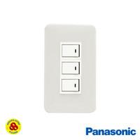 Panasonic Saklar Triple 3Gang 1 Way WNJ6803 Sakelar 3G 1W Frame Single