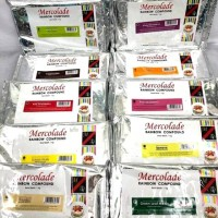 MERCOLADE RAINBOW COMPOUND 1kg/ COKLAT BLOK WARNA-WARNI / COKLAT BATAN