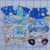 Setelan baju pendek celana Pop bayi LIBBY 0-3 bulan 1 PCS
