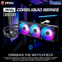 MSI MAG CORELIQUID 360R AIO RGB CPU Liquid Cooler