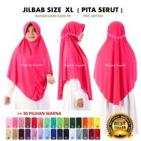 Jilbab Instan Serut Anak Sekolah Atau Dewasa Bahan Kaos