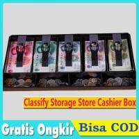 4 Kotak Koin Laci Kasir +5Grid Tempat Uang Penyimpanan cash drawer