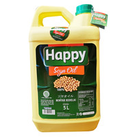 HAPPY Soya Oil 5 Lt / Minyak Kedelai / Happy Salad Oil