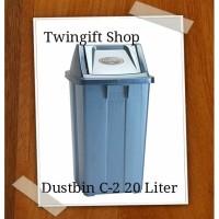 Tempat Sampah kotak tutup Lion Star, 20 liter..