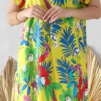 Daster Bali/Daster Wanita/Daster Payung/Daster Hamil/Dress Terusan - Kuning