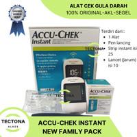 Accu Chek Instant + 25 Strip + 10 Lancet Alat Gula Darah Accu Check