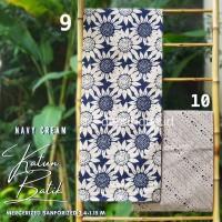 Kain Katun Batik Solo Premium Navy Cream 5