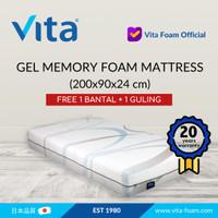 Kasur Gel Memory Foam by Vita 200x90x24 - Japan Quality
