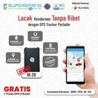 GPS Tracker Portable SUPERSPRING M-20, Pelacak Kendaraan/container